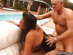Miss arroyo double banged in the backyard