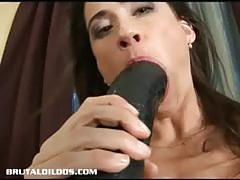 Sexy pepper spreading her pussy for brutal dildo