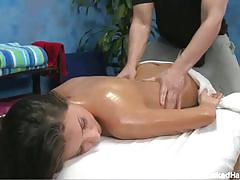 Sexy bust blonde babe lizz gets a free massage!