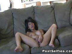 Busty brunette layla rose dildos her cunt