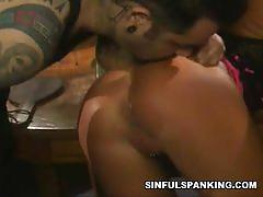 Blonde bitch ashton moore gets her hot ass spanked