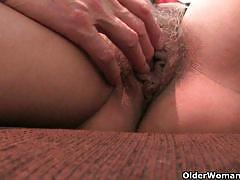 Mature moms getting fingered by a dude