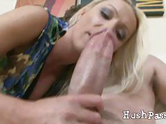 Hot wife diana amazed on a huge young cock
