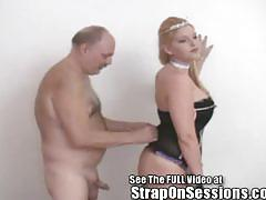 Bobbie a old pervert fucked with big girlie dick