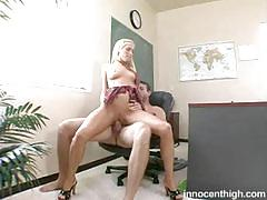 Cassie young does her best to impress her teacher