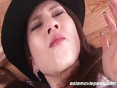 Lovely japanese milf gets abused