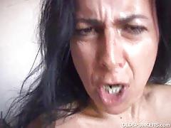 Nina's mature and hairy snatch gets plowed