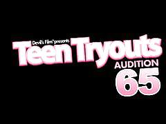 """Devils film presents """"teen tryouts audition 65""""."""