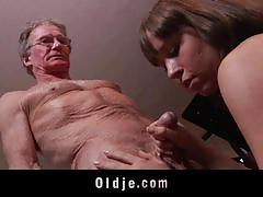 Teen with flawless body banged by an old bloke