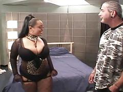 Ghetto hos 4-ebony horny babe rammed by hard dicks with fishnets.