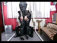 Hot slave girl playing with herself