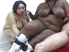 Phat cocksuckers 3-two bbw slut doing suck and handjob !!