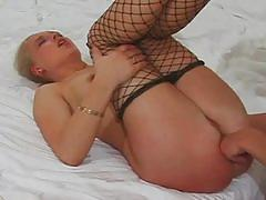 hardcore, anal, blonde, stockings, doggy style, fishnets, anal sex, ass fingering, missionary