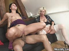 Girlfriend rides her future father-in-law
