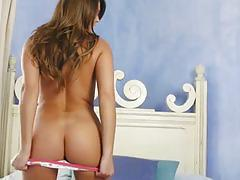 Playful adri manning teasing in cute panties