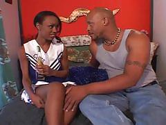 Ebony cheerleaders 12-the ebony babe drilled by another black dicks
