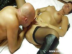 Hot amateur milf gets her cunt fisted very hard