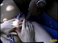 Busty blonde babe missy fucked by two black cocks.