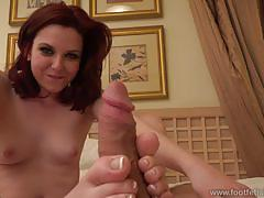 Emma evins has her freshly pedicured feet sucked and fucked