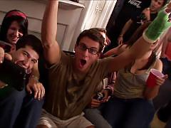 Watch this awesome college hardcore sex party