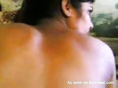 Horny indian gf sucking a boner