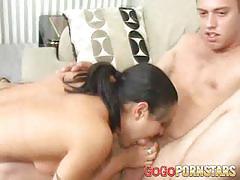 Luscious babes sharing hard cock