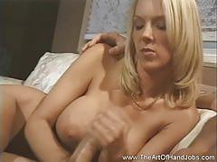Big tits blondie gives incredible handjob