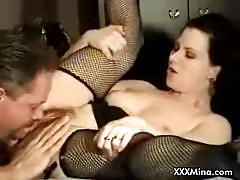 Voluptuous mina got her lover's spunk on her face