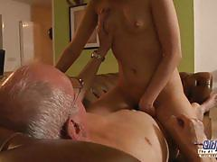 Jalace with tight pussy fucking the old man