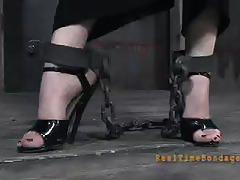 claire adams, brunette, bdsm, bondage, toys, vibrator, mistress, whip, latex, torture, femdom, dungeon, painful