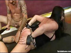Extreme babe moxxie maddron bdsm and dp session