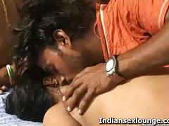 Tiny titted roopa kissing passionately with raj