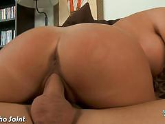 Young samantha saint slammed with a 10 inch cock