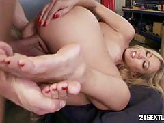 Capri cavanni in feet on the pedal