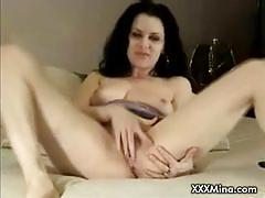 Hairy brunette slut gets banged deep and hard