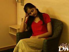 Shy teen divya yogesh started undressing