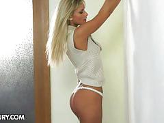 blonde, babe, pussy, big ass, masturbation, solo, tight pussy, posing, naked, shaved pussy, beauty, teasing, masturbating, striptease