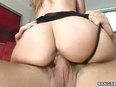 Passionate latina with a big ass rides a hard pole