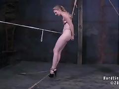 Sensual blonde enjoys some very hot torture
