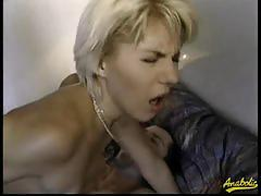 Sexy blonde babe dina pearl gets double anal fuck