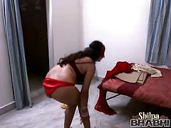 Erotic indian whore stripping slowly