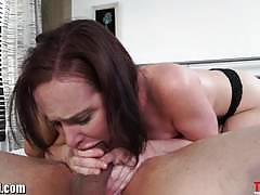 katie st ives, blowjob, babe, big ass, gagging, beauty, deepthroat, face fucking, round ass, glamour