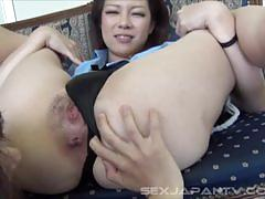 Japanese lesbians sniffing each others cunts