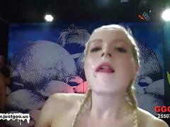 Little pornabella's full bukkake anal scene