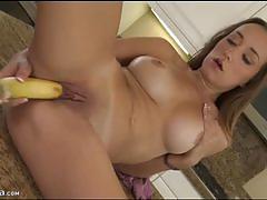 Victoria rae masturbates with a banana