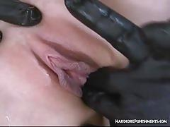 Asian babe squirts with three guys in bdsm session