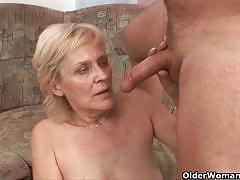 A bunch of mature women fucked and jizzed