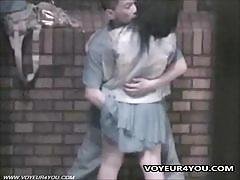 Asian couple enjoy some naughty public sex