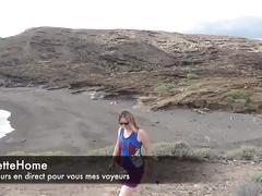 Masturbation a la plage avec amatrice francaise en francais