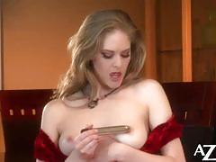 Diane teases her nipples